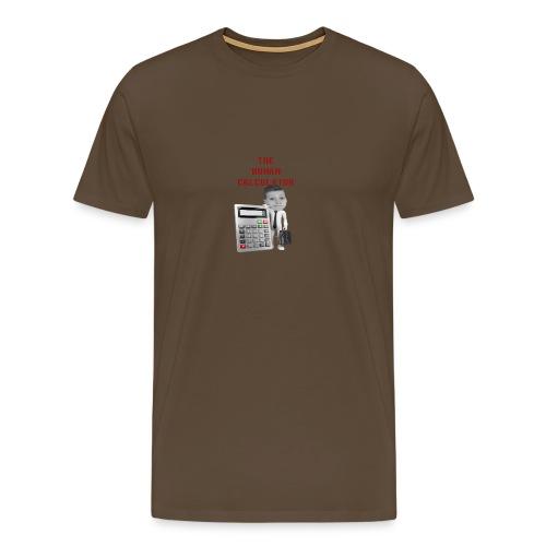 The Human Calculator - Premium-T-shirt herr