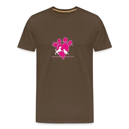 LOGO www.Straydogscalarasi.com pink - Mannen Premium T-shirt
