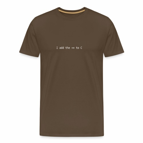 I add the ++ to C - Men's Premium T-Shirt