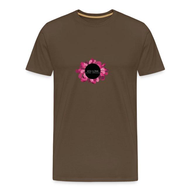 Miesten t-paita punainen logo