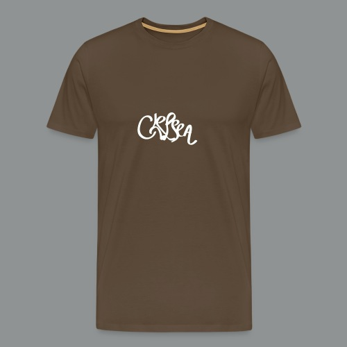 Vrouwen shirt (rug) - Mannen Premium T-shirt