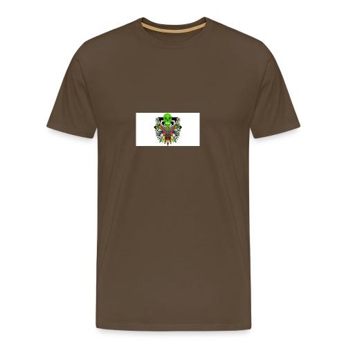 Colorfull skull - Miesten premium t-paita