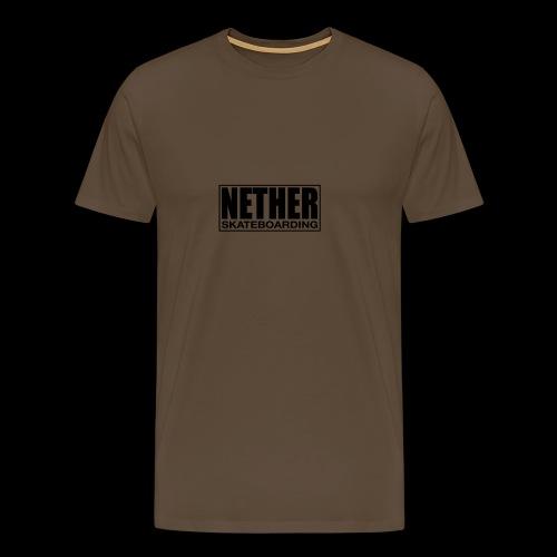 Nether Skateboarding T-shirt White - Maglietta Premium da uomo
