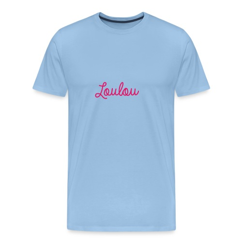 Logo-Roze - Mannen Premium T-shirt