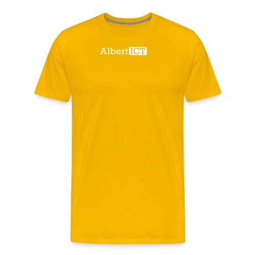 AlbertICT wit logo - Mannen Premium T-shirt