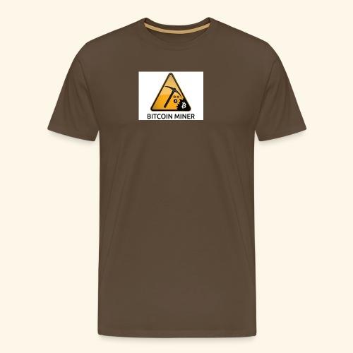 BITCOIN MINER - Koszulka męska Premium