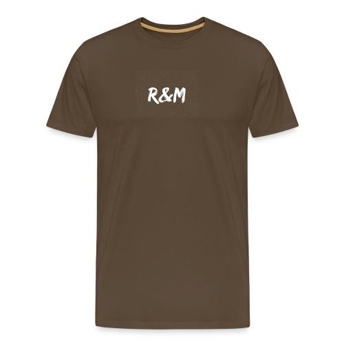 R&M Large Logo tshirt black - Men's Premium T-Shirt