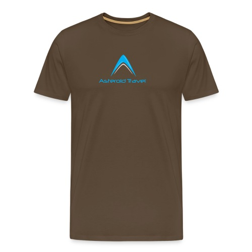 Asteroid Travel Logo - Premium T-skjorte for menn