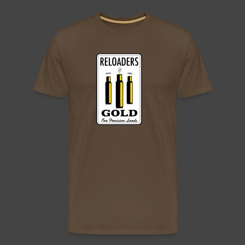 Reloaders Gold Shirt für Wiederlader - Männer Premium T-Shirt