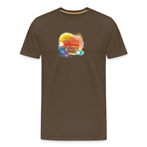 Refugees Welcome - Camiseta premium hombre