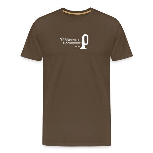 LOGO MK PIANS weiss dick - Männer Premium T-Shirt