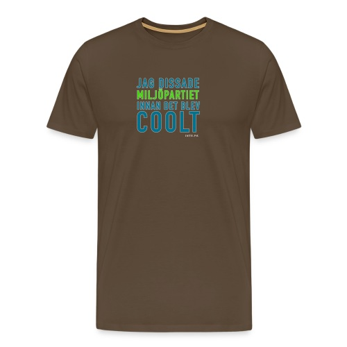 Dissa Miljöpartiet - Premium-T-shirt herr