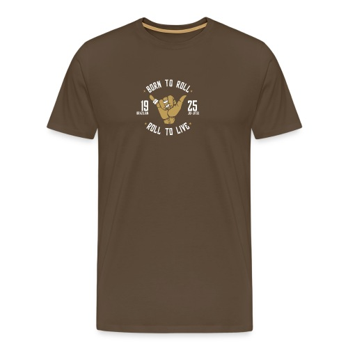 Born to Roll: Brazilian Jiu-Jitsu - Camiseta premium hombre