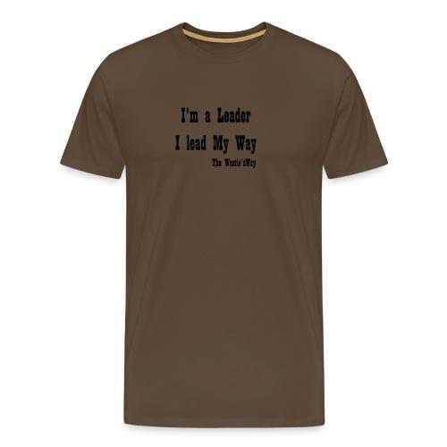 I lead My Way Black - Koszulka męska Premium
