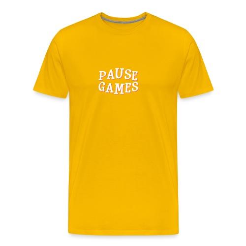 Pause Games Text - Men's Premium T-Shirt