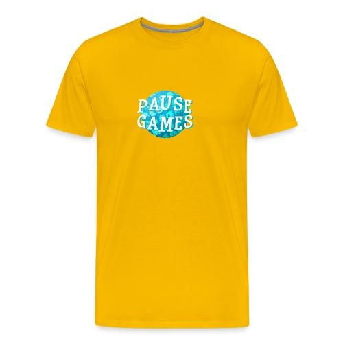 Pause Games New Design Blue - Men's Premium T-Shirt