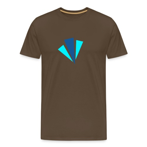 Blauwe Objecten T-shirt - Mannen Premium T-shirt