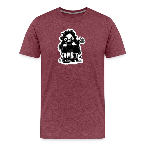 zombies the only meat eaters sv spsh - Premium-T-shirt herr