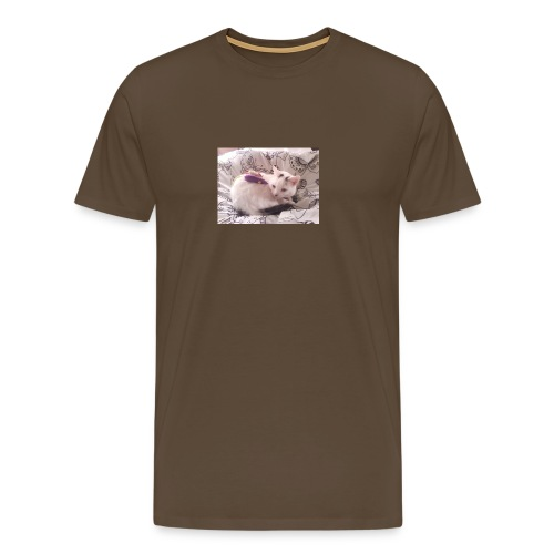 CAT SURROUNDED BY MICE AND BUTTERFLIES. - Men's Premium T-Shirt