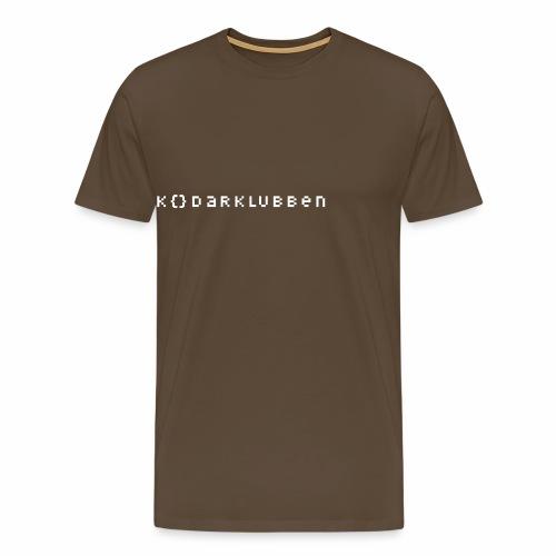 The Kodarklubben mörka produkter med vit logotyp - Men's Premium T-Shirt