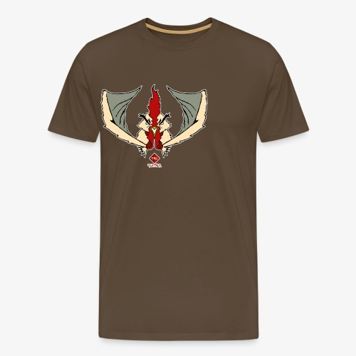 Fire Feather - Camiseta premium hombre