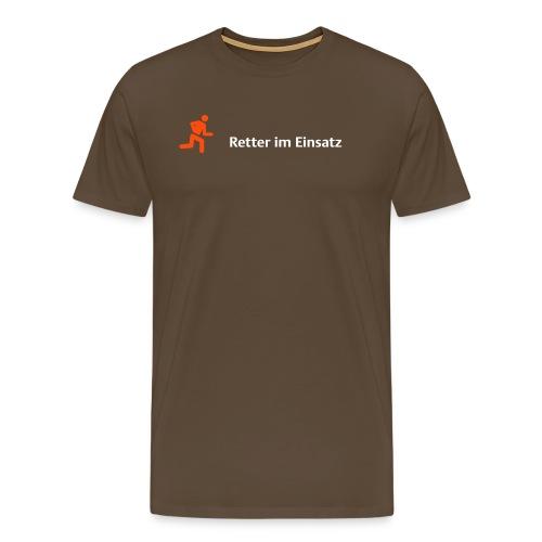 retter orange - Männer Premium T-Shirt