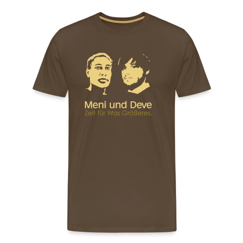 mein und deve zweifarbig - Männer Premium T-Shirt