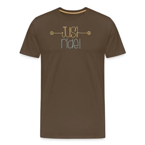 Daiv   Just ride logo XL - T-shirt Premium Homme