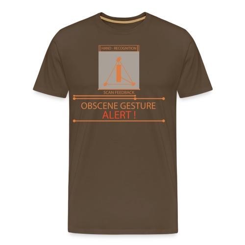 Obscence Gesture Alert - Men's Premium T-Shirt