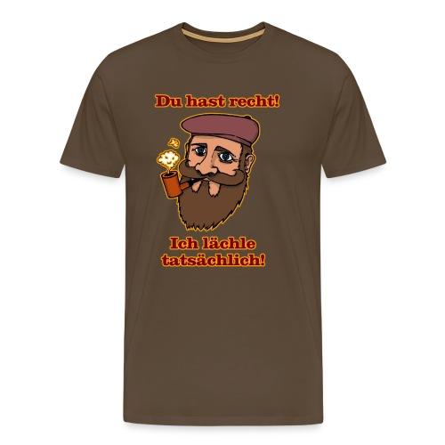 Ich lächle tatsächlich - Männer Premium T-Shirt