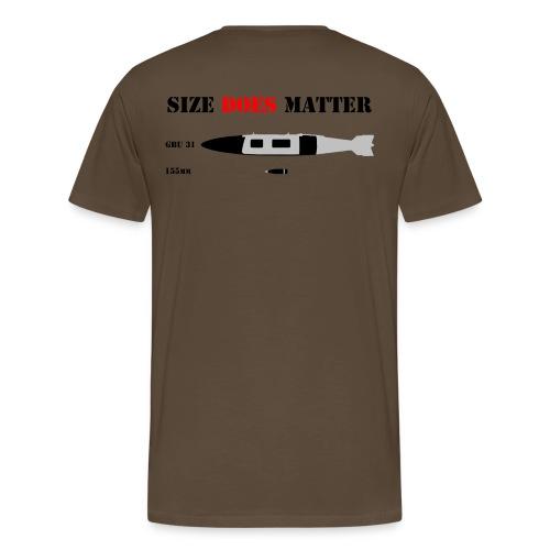 GBU31vs155 png - Herre premium T-shirt