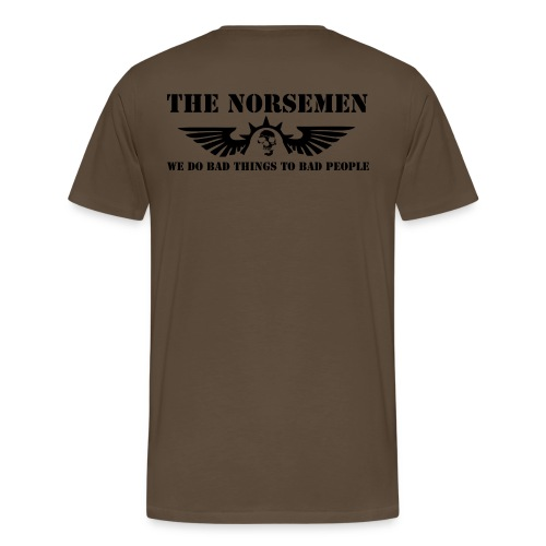 The Norsemen no BG png - Herre premium T-shirt