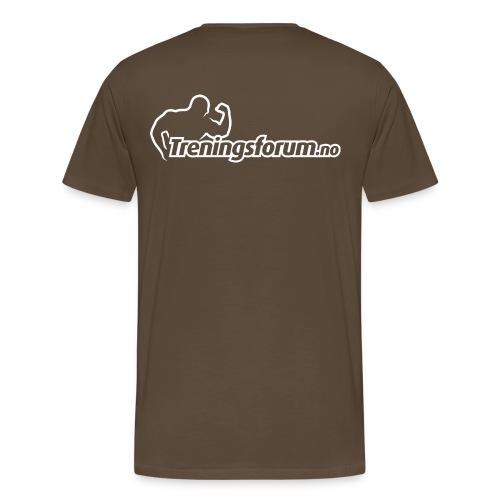 spreadshirt logo hvit png - Premium T-skjorte for menn