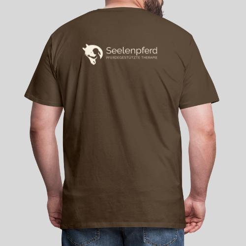 Seelenpferd Logo beige - Männer Premium T-Shirt