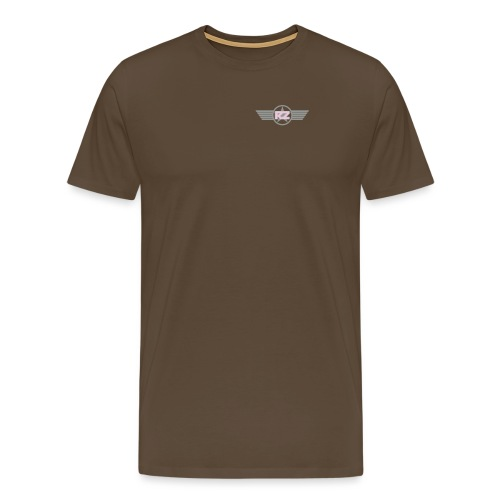 Logo Flügel Schwarz - Männer Premium T-Shirt