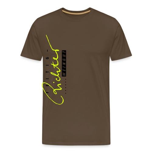 logo schwarzrot - Männer Premium T-Shirt