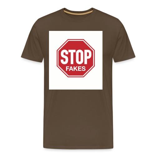 Stop Fakes Front - Men's Premium T-Shirt