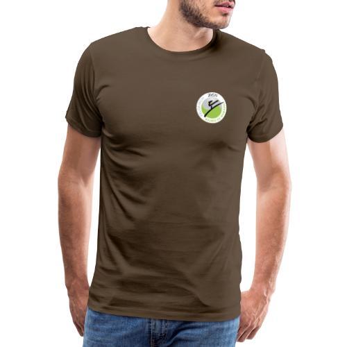 logo rund weiss mit rand - Männer Premium T-Shirt