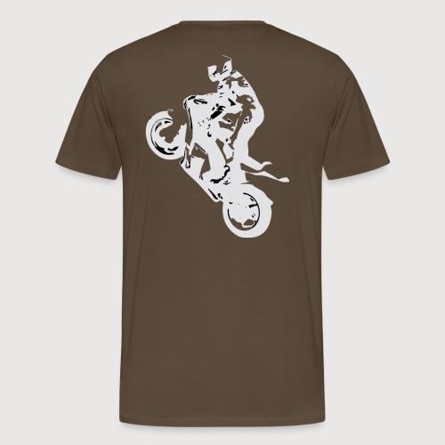 BR Wheelie style White - Männer Premium T-Shirt