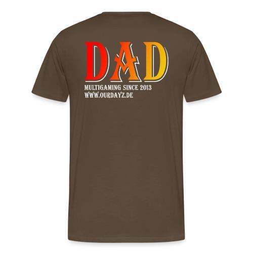 Logo 3 White gif - Männer Premium T-Shirt