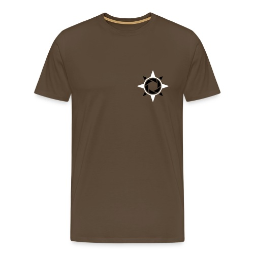 weiß rote rose 2 - Männer Premium T-Shirt
