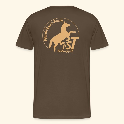 logo pst schwarz - Männer Premium T-Shirt