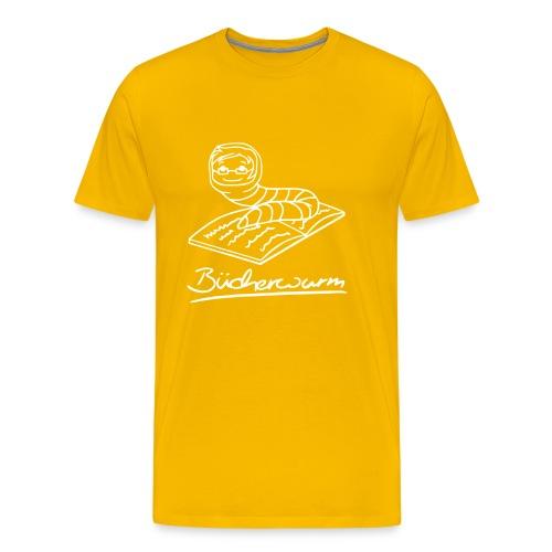 Bücherwurm 1 - Männer Premium T-Shirt