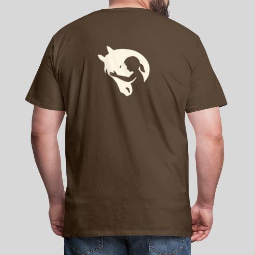 Seelenpferd beige - Männer Premium T-Shirt