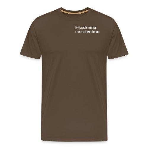 Less Drama bianco png - Men's Premium T-Shirt