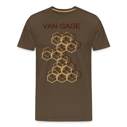 CUBESbrown - Männer Premium T-Shirt