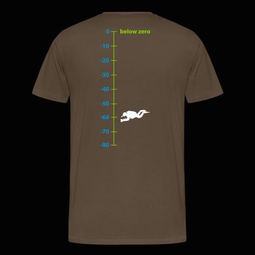 160221 below zero pfad - Männer Premium T-Shirt