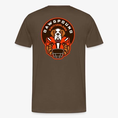 Barry auf Rücken mit offiziellem Logo auf Ärmel - Männer Premium T-Shirt