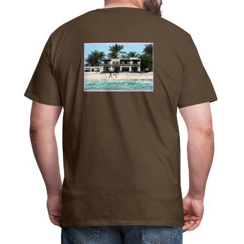 sadBoy Stick man Beach - Mannen Premium T-shirt