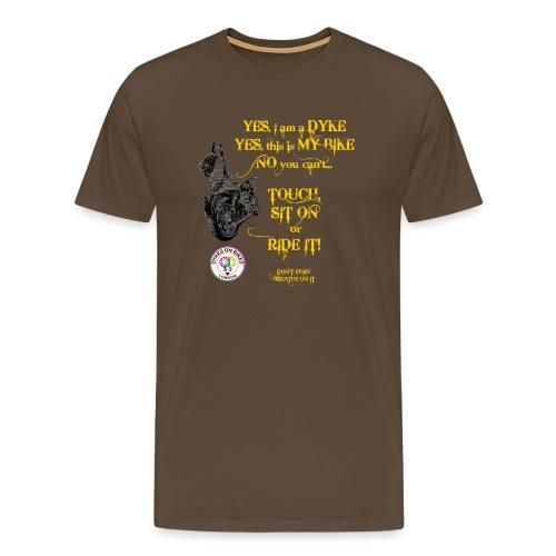Member no touch YELLOW with DOB Logo - Men's Premium T-Shirt